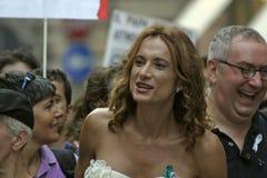 2009 glada genova stolthet Arkivfoto