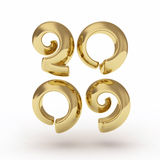 2009 golden number. 3D image Royalty Free Stock Photos