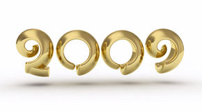 2009 golden number Stock Image