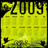 2009 grunge Calendar. Grunge Fashion Calendar for 2009. (Starts Sunday Royalty Free Stock Photos