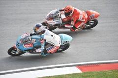 2009 het Duel van de Klasse van MotoGP 125cc Stock Afbeeldingen