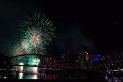 2009 het Festival van Brisbane Riverfire Royalty-vrije Stock Foto
