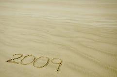 2009 in het zand Royalty-vrije Stock Foto's