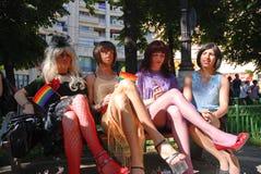 2009 homoseksualna Bucharest parada Zdjęcia Royalty Free
