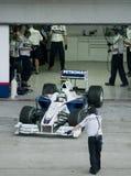 2009 Inkeping Heidfeld bij Maleise F1 Grand Prix Stock Foto
