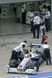 2009 Inkeping Heidfeld bij Maleise F1 Grand Prix Stock Afbeeldingen