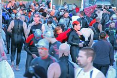 2009 ironman pancerników plażowych triathlon obraz stock