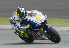 2009 Italian Valentino Rossi of Fiat Yamaha Team Royalty Free Stock Photo