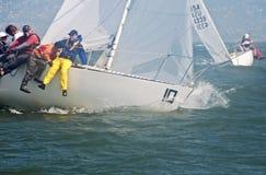 The 2009 J-24 US National Championship. Sailboat racing on san francisco bay stock photos