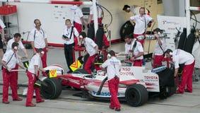 2009 Jarno Trulli bij Maleise F1 Grand Prix Royalty-vrije Stock Afbeelding
