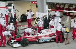 2009 Jarno Trulli bij Maleise F1 Grand Prix Stock Fotografie