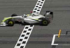 2009 Jenson Button bij Maleise F1 Grand Prix Royalty-vrije Stock Foto