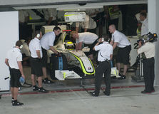 2009 Jenson Button bij Maleise F1 Grand Prix Stock Fotografie