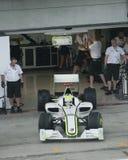 2009 Jenson Button bij Maleise F1 Grand Prix Stock Afbeeldingen