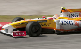 2009 Jr. van Nelson Piquet bij Maleise F1 Grand Prix Royalty-vrije Stock Foto's