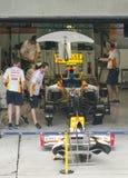 2009 Jr. van Nelson Piquet bij Maleise F1 Grand Prix Stock Afbeelding