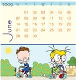 2009 kalendarzowy Czerwiec Royalty Ilustracja