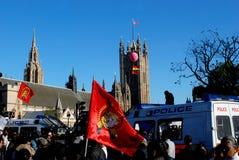 2009 kan den london marschen protestera tamil Royaltyfri Fotografi