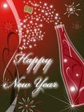 2009 karcianego powitania nowych czerwonych rok Zdjęcia Royalty Free