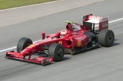 2009 Kimi Raikkonen bij Maleise F1 Grand Prix Stock Foto's