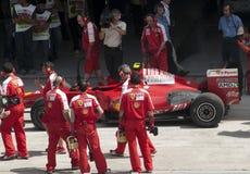 2009 Kimi Raikkonen bij Maleise F1 Grand Prix Royalty-vrije Stock Foto