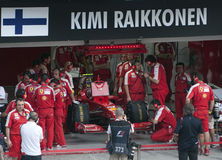 2009 Kimi Raikkonen at Malaysian F1 Grand Prix Royalty Free Stock Image