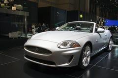 2009 konvertibla xk för show för geneva jaguarmotor Royaltyfria Foton