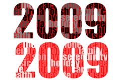 2009 lettering series-letter. A collection of 2009 different header and lettering for calendar,cards,and so on...everything you are able to think about the new Royalty Free Stock Images