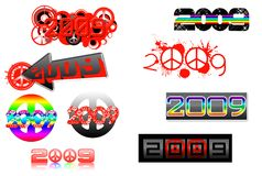 2009 lettering series-peace theme- Royalty Free Stock Image
