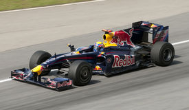 2009 Mark Webber at Malaysian F1 Grand Prix Royalty Free Stock Image