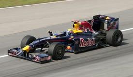2009 Mark Webber at Malaysian F1 Grand Prix royalty free stock image