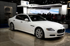 2009 Maserati Quattroporte. Maserati Quattroporte presented at the 2009 North American International Auto Show. See my portfolio for more automotive images stock photo