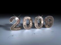2009 metálico que brilla Imágenes de archivo libres de regalías