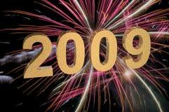 2009 mit Feuerwerken Lizenzfreies Stockbild