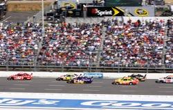 2009 NASCAR - Montoya führt den Satz Stockbilder