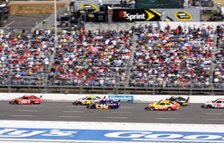 2009 NASCAR - Montoya leads the pack Stock Images
