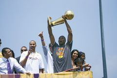2009 NBA Champion Los Angeles Lakers Stock Photos
