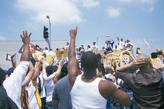 2009 NBA Kampioen Los Angeles Lakers Stock Afbeeldingen
