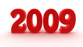 2009 is near. Digitally generated image: 2009 is coming Royalty Free Stock Photo