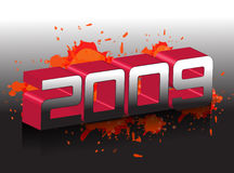 2009 new year. New year 2009 3d creation vector illustration