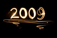 2009 New Year. Effect text effect lighting Royalty Free Stock Photos