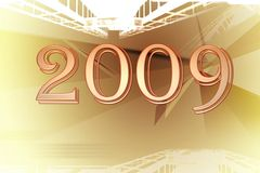 2009 new year earth Royalty Free Stock Photography