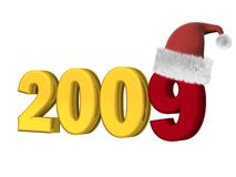 2009 new year on a white background. 3D image Royalty Free Stock Photos