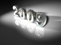 2009 New Years. An illustration for 2009 on a gray background stock illustration