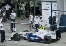 2009 Nick Heidfeld at Malaysian F1 Grand Prix Stock Images