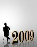 2009 nuovi anni di invito del Eve Fotografia Stock
