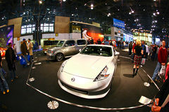 2009: NY International Auto Show. New York City, April 10, 2009: The opening day of NY International Auto Show 2009. The auto industry is struggling in the Royalty Free Stock Image
