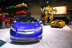 2009: NY International Auto Show. New York City, April 10, 2009: The opening day of NY International Auto Show 2009. The auto industry is struggling in the Stock Images