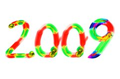 2009 nya år Arkivbild