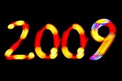 2009 nya år Fotografering för Bildbyråer